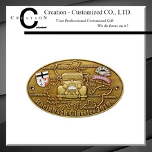 Classic Around the United States Champion Medal Car Drive Antique Gold Medal with a Logo of Car Medallion Companies
