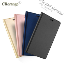 CRorange PU Leather Case For Huawei Honor 8 6X Business Style Flip Mate8 Case for Huawei P9 Lite P9 Plus Luxury Stand Case Cover
