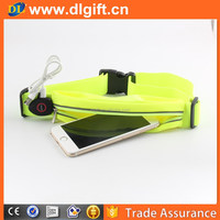 Factory wholesale LED flashing running safety cycling USB rechargeable LED waist bag belt