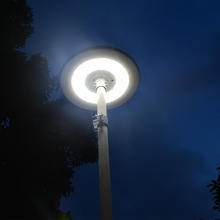 All in one led solar street lights stand alone ufo led solar plaza light