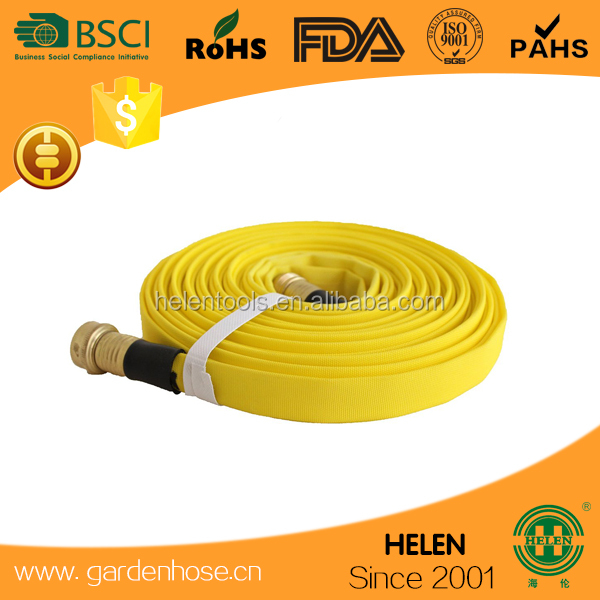 50FT FLAT GARDEN HOSE PIPE & REEL WITH SPRAY GUN NOZZLE 15M OUTDOOR WATERING NEW zhejiang facotry