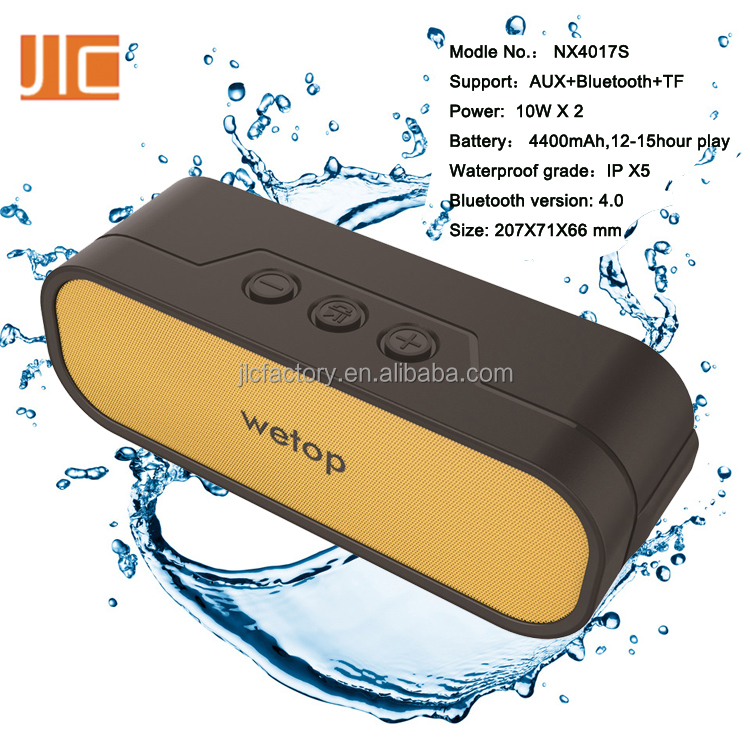 2016 Hot Speaker Waterproof mini water dancing speaker with usb charger with V 4.0 bluetooth + 20W power Speaker + TPU +DSP