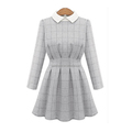 OEM service long sleeve knitting casual women dress ruffle skirt dresses