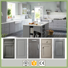 Modern Grey Painted Shaker Kitchen Cabinet Designs Import from China
