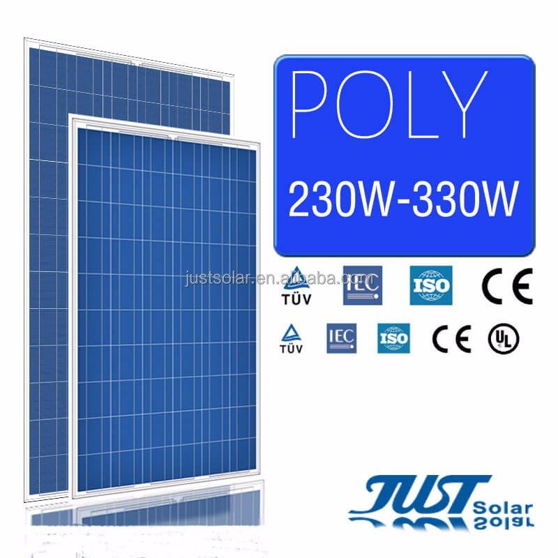 Just Solar Group polycrystalline silicon solar panel 250w with CE CQC and TUV certification