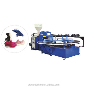 PVC/TPR/TPU Single Color or Double Color Shoe Sole Injection Molding Machine