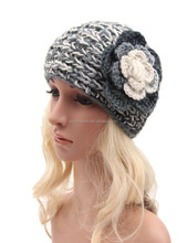 Women Crochet Headband Knit Hairband Flower Winter Ear Warmer Headwrap WH-1410