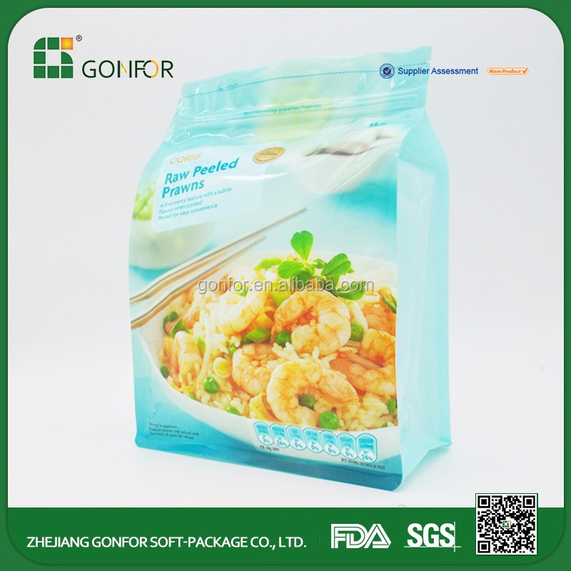Customized Printed takeaway frozen food tray packaging