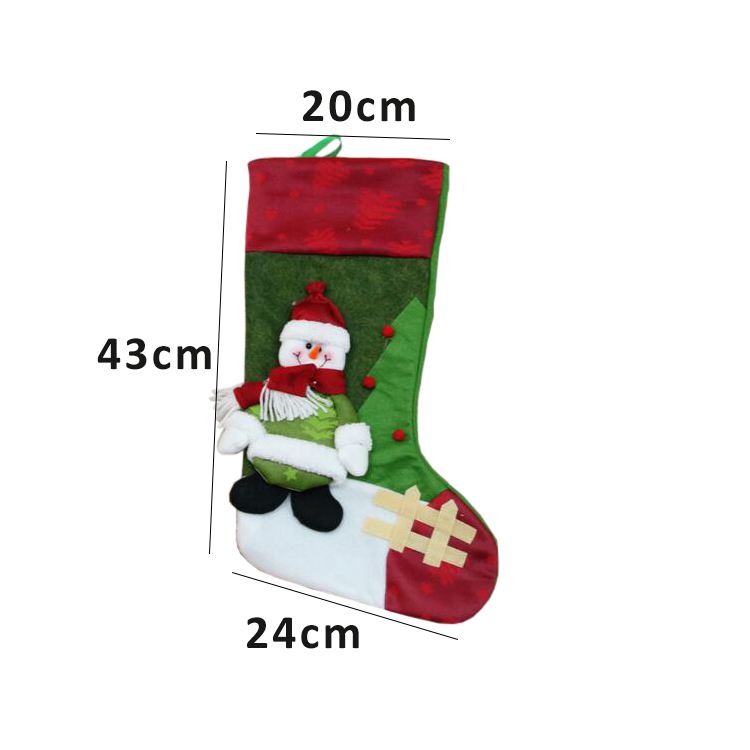 Festive christmas stocking for christmas tree ornaments