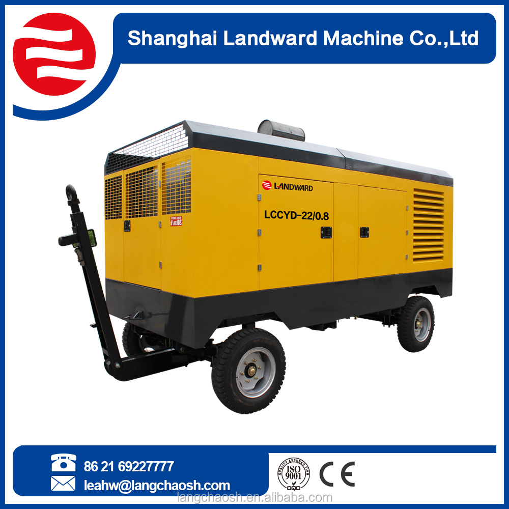 Gold Supplier China diesel engine portable car air compresso