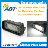 LED Number License Plate Light For Benz W220 99-05 (S-class)