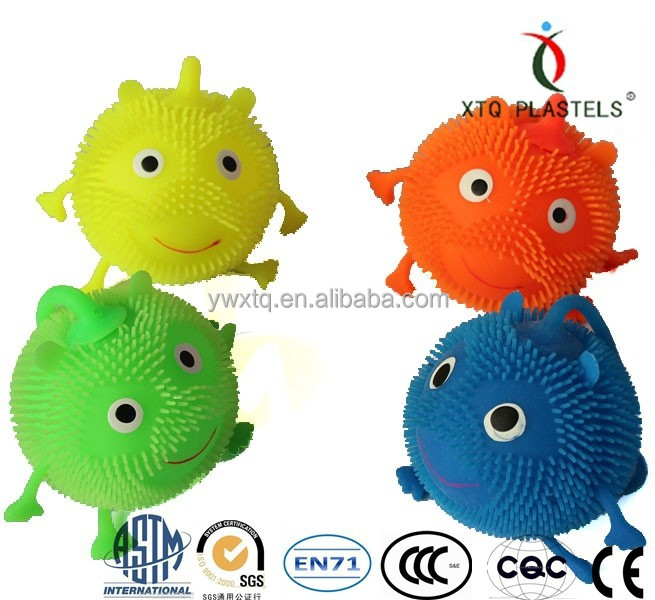 2015 new flashing puffer ball plastic cheap toys