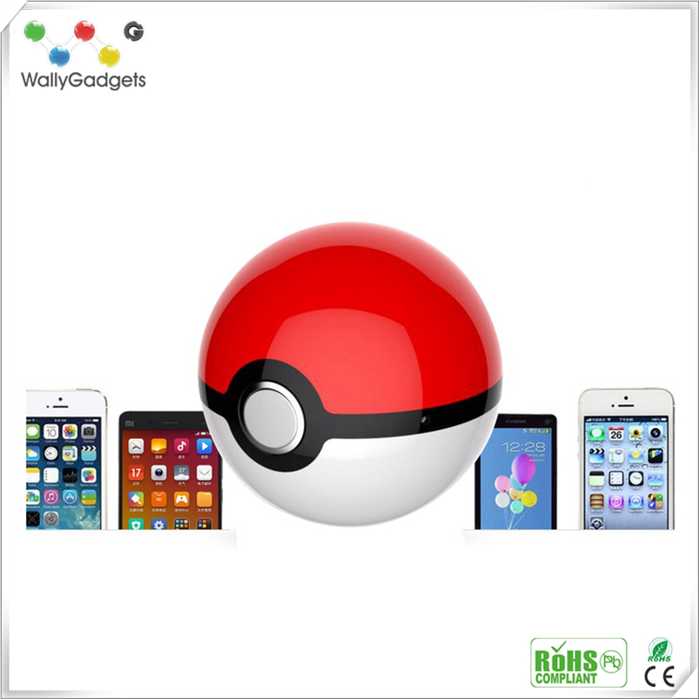 2016 hot sale products 10000mAh LED light magic ball pokemon power bank for android for iPhone