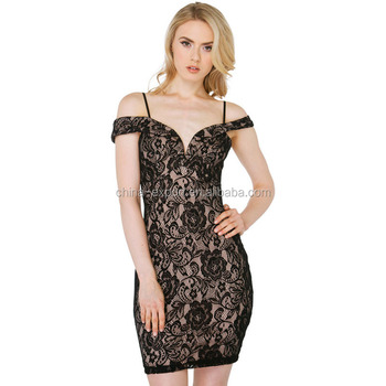 JPSKIRT1508483 2016 Fashion Women Sexy Suspender Black Lace Dress