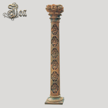 Decoration outdoor roman yellow standing marble columns