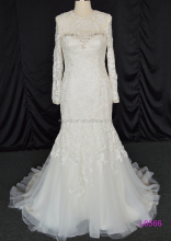 L0566 long sleeves mermaid 2016 newst beading lacea wedding gowns