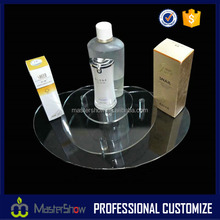 Cosmetic store 3 tier perfume acrylic display stand