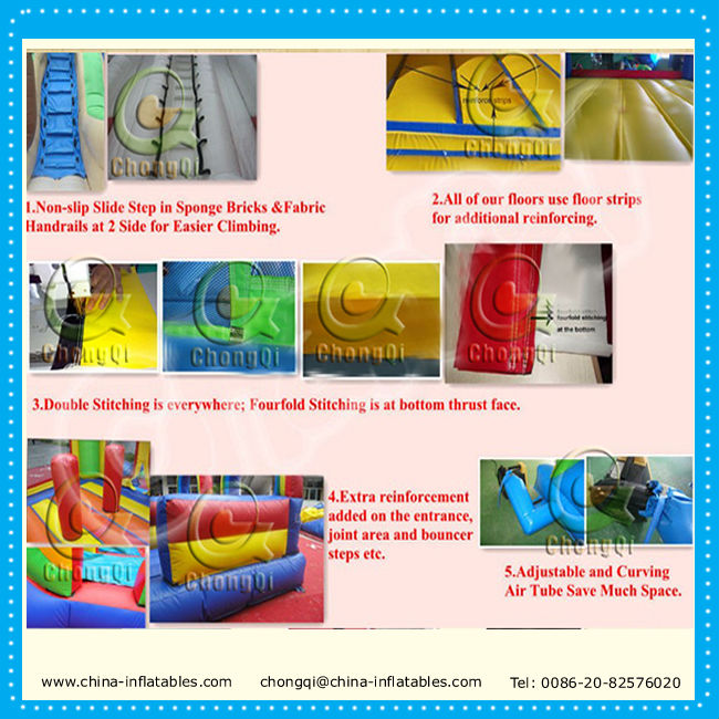 Inflatable 5K obstacle run/running inflatable extreme interactive party events
