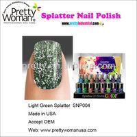 10ml Light Green Splatter Mini Nail Polish Set 16bottles Per Display Accept Private Lable
