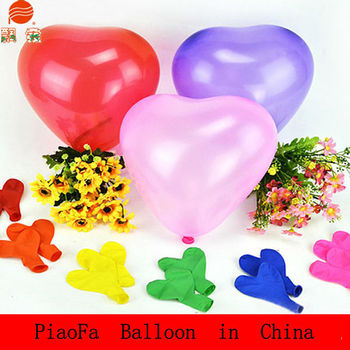 latex heart ballons and natural latex balloon meet EN71-2-3 CE made Shenzhen