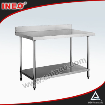 stainless steel work table with under shelf