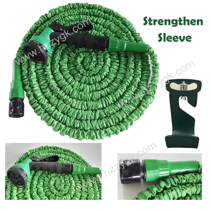 NEW IMPROVED GARDEN HOSE!!! Strength Rubber Sleeve Passion Garden Water Hose Reel/Expandable Portable Hose with Hanger