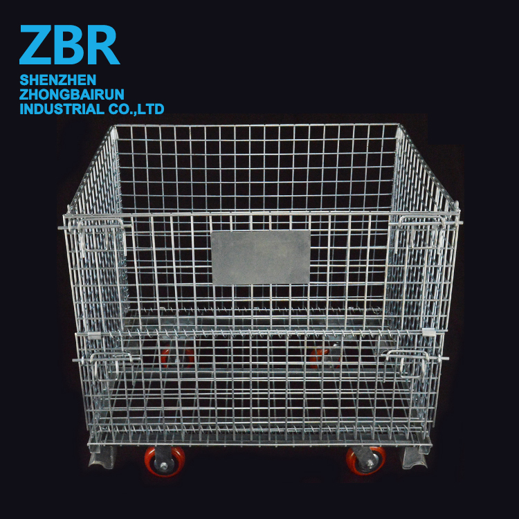 Stone Gabion Iron Wire Container Pet Bottle Metal Warehouse Storage Mesh Cage with Side Door Open