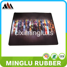 Design your own game mouse pad custom logo rubber and gel mouse pad