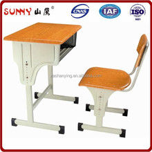 Height adjustable middle school desk and chair