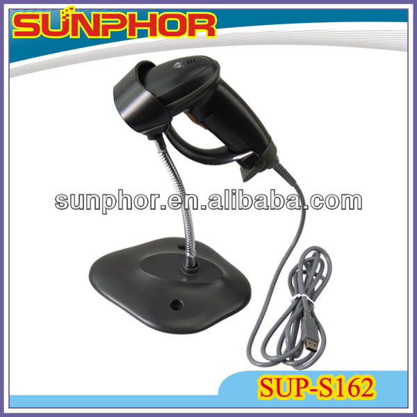 hand held barcode scanner SUP-S162 With Auto Scan Function And Metal Bracket