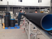Top quality HDPE sewer pipe yellow plastic corrugated drainage pipe
