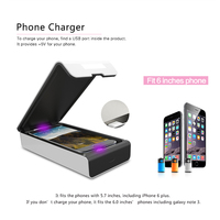 2016 most creative product UV lamp sanitizer with charger function for smartphone,smartwatch and jewelry disinfector