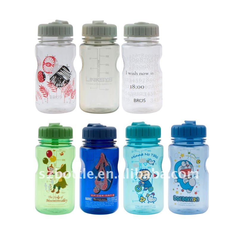 cartoon picture children water bottle 350ml