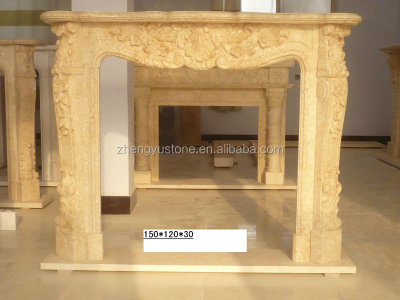 top quality classical beige Stone marble Fireplace