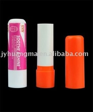 plastic lip balm tube container with many color