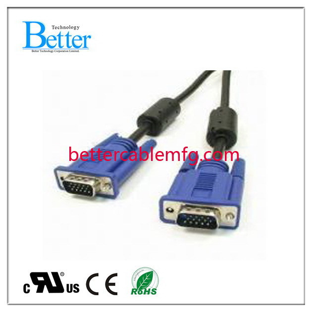 Durable professional vga to rca/3rca cable