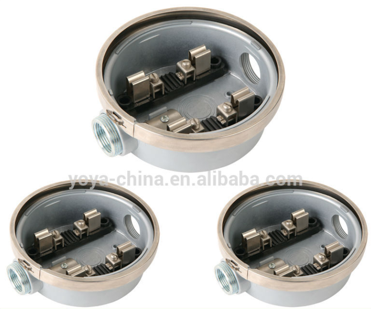 Round Aluminum Electrical Meter Socket