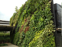 High quality artificial green walls with flowers or big plants
