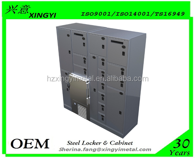 Customizable Storage Security Fabric Evidence Locker Metal Locker With Refrigeration units