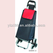 six wheel climbing stair folding shopping cart with bag ZZ304C-2