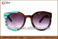 wooden material fashion sport glasses