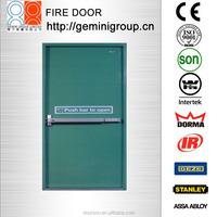 2hours fire rated metal door with British type panic push bar