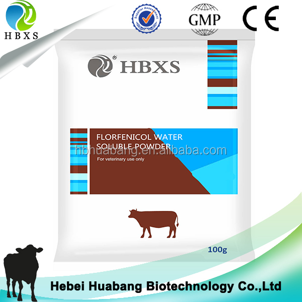 Chicken Farming Antibiotic Drug 10% Florfenicol Water Soluble Powder