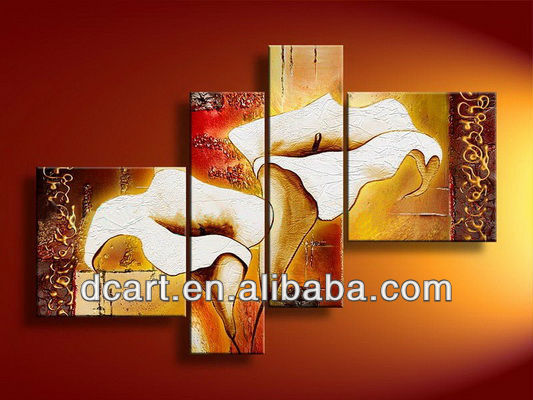 large size hand painted oil painting pictures of flowers