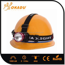 4 Color T6 Zoomable Headlamp Rechargeable LED Carbide Lamp