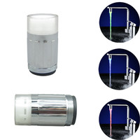 Free shipping Temperature Sensor 3 Color Kitchen Water Tap Faucet RGB Glow Shower LED Light Aerator
