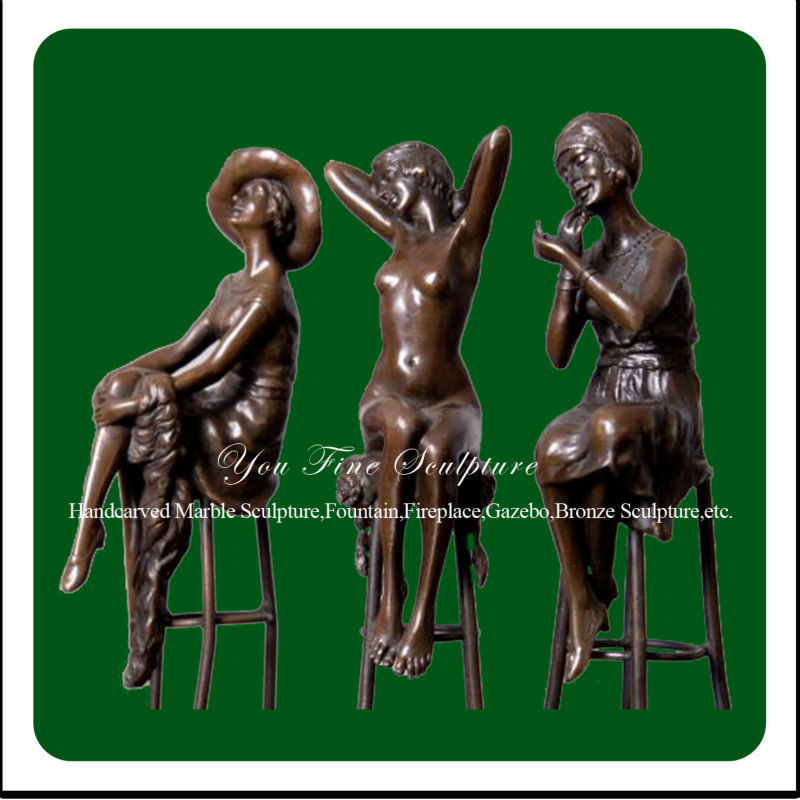 Garden Decorative Three Girls Life Size Bronze Sculpture