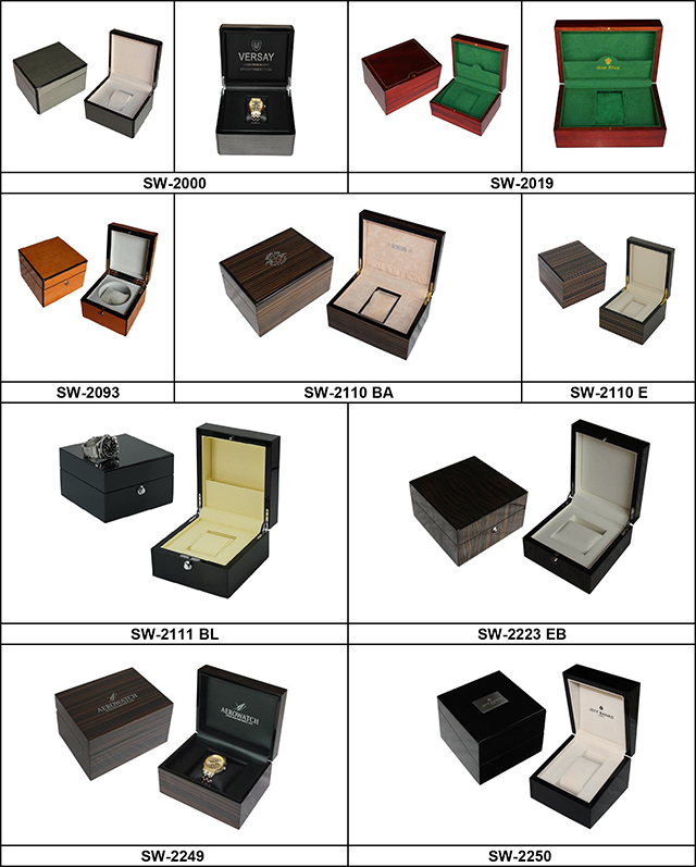 Luxury 12 Slots Cherry Lacquered Wooden Watch Collection Box