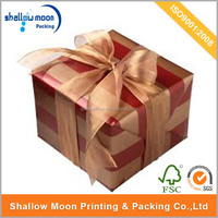 High-Grade Paper Printed Gift Box with a Bow (QY150910)