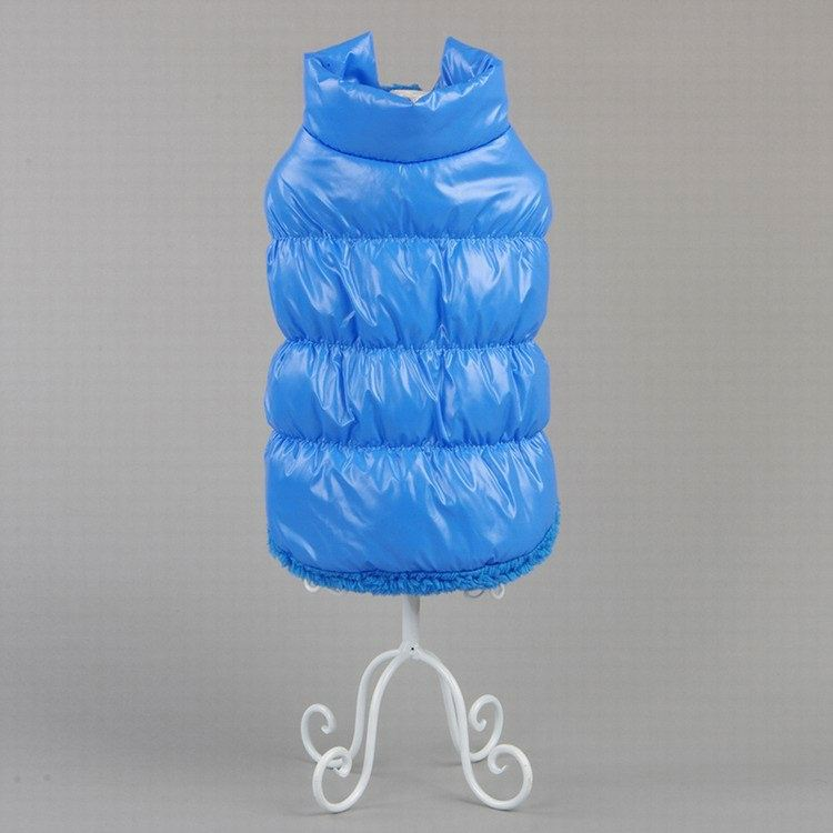 Hot Winter Dogs Pet Padded Vest Coat Puppy Warm Down Fleece + Polyester Jackets Clothes